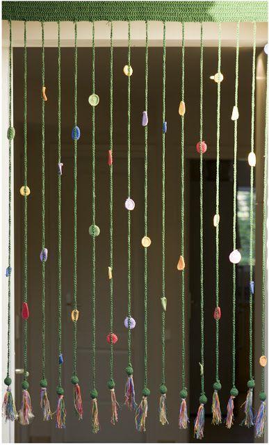 Cortina de crochet. / El blog de Dmc: Como hacer una cortina en ganchillo