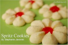 Spritz Cookies Recipe...I remember my grandma and mom making these throughout my childhood. Instead of vanilla extract we use almond.