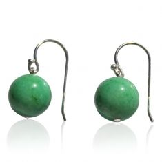 Aloe green jade earrings