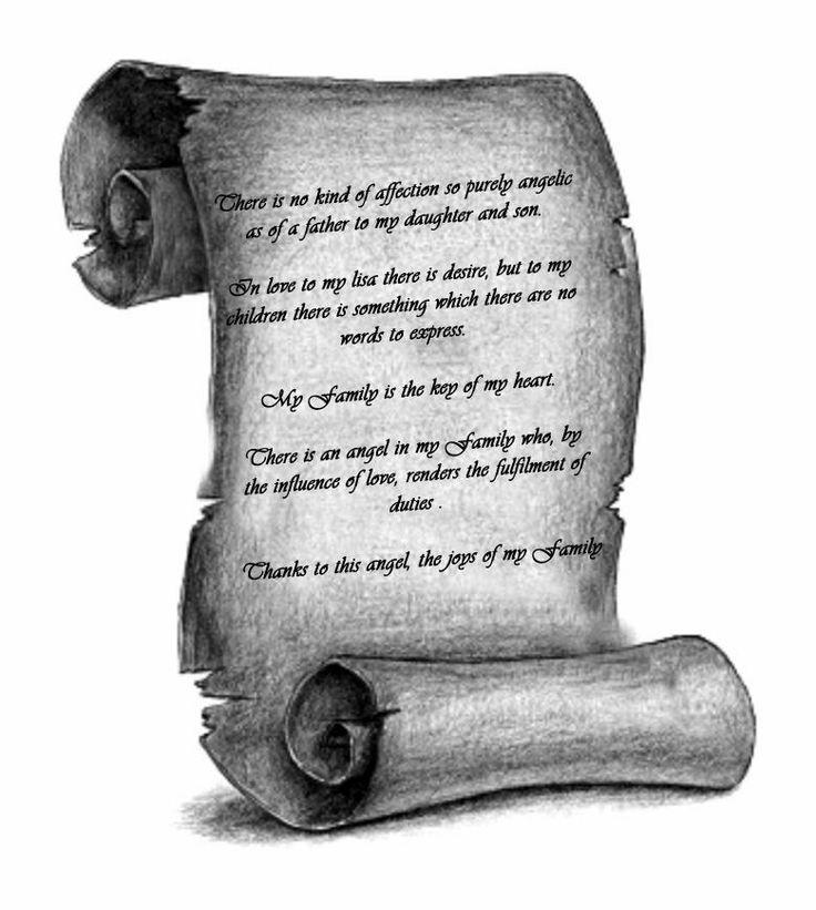 scroll tattoo