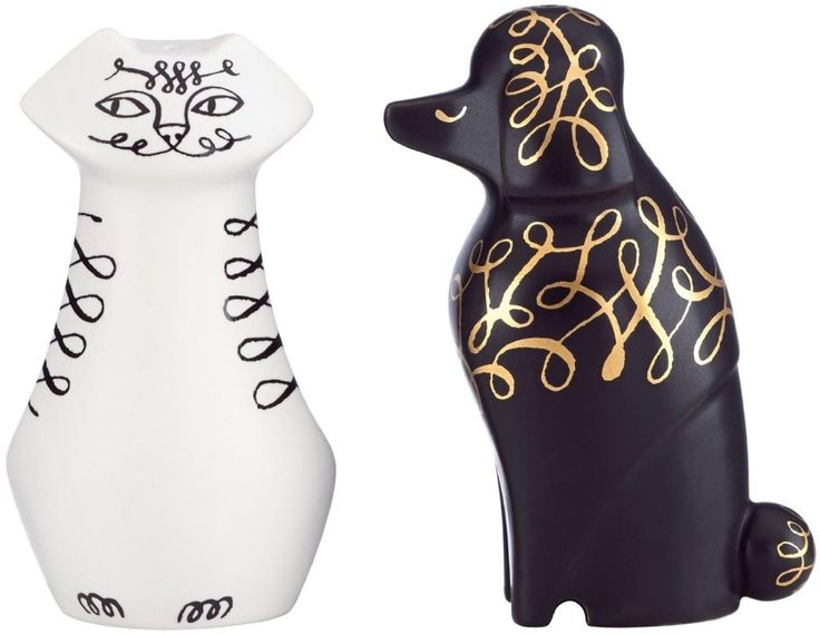 Hostess Gift Etiquette   Cat and Dog Salt & Pepper Shaker Set  If your hostess is a cat lover she will love this and will use it for a lot of dinner parties.