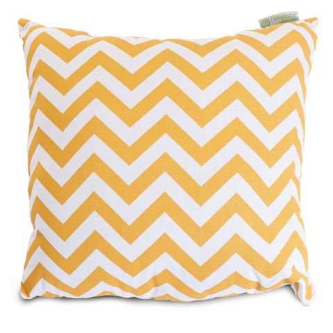 A brilliant yellow zig zag throw pillow.  Our throw pillows can be used indoors or outdoors for patio, lawn, and deck furniture.  UV resistant fabric.  #pillows #throwpillows #outdoors http://www.readingpillowsplus.com/products/large-throw-pillow-yellow-zig-zag