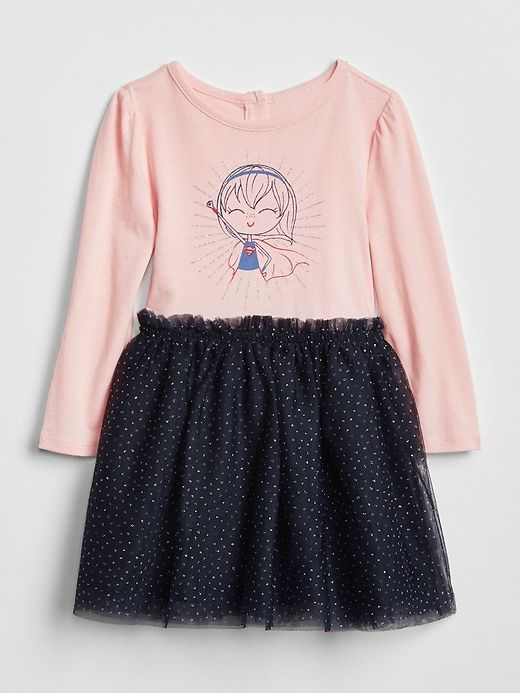 eeb9b31e73e5 Gap Baby Babygap   Dc™ Mix-Fabric Dress Girl   Products   Fall ...