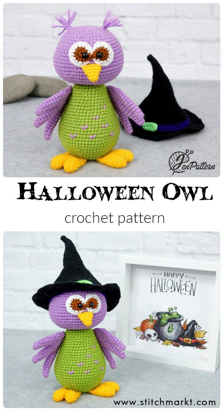 Halloween owl crochet PATTERN, DIY amigurumi tutorial | Dolls ...