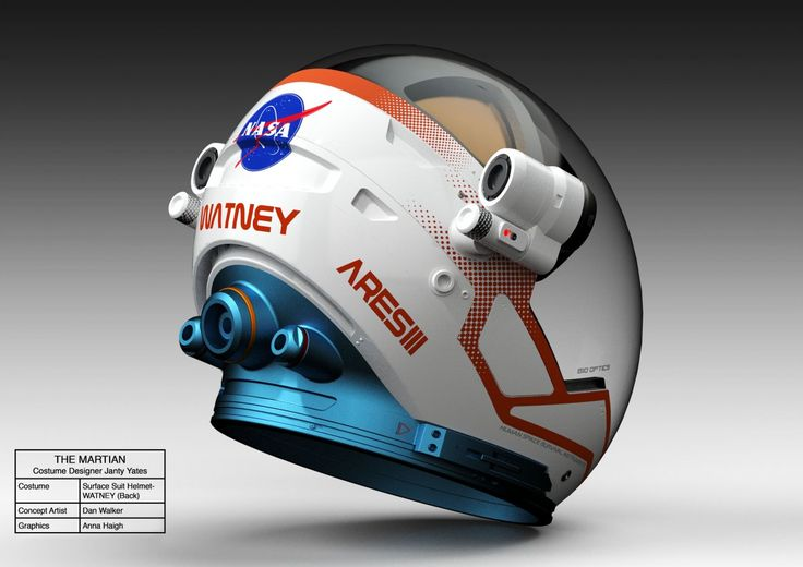 Yates said designing the helmets was the most challenging part. For one, helmets for each suit type had to be much larger than real space helmets, so cameras could get clear shots of the actors' faces.