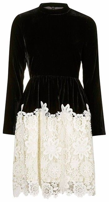 Premium Velvet Skater Dress