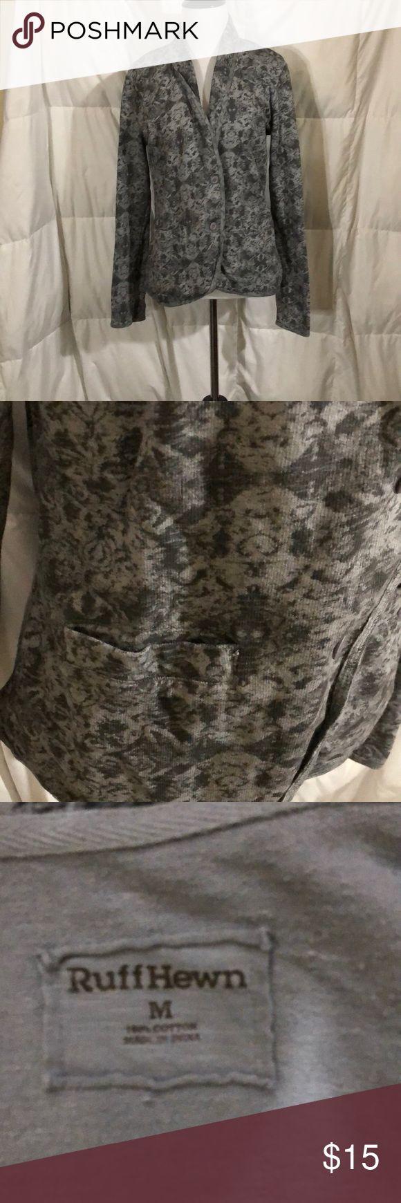 Ruff hewn blazer Patterned grey blazer. Perfect for work Ruff Hewn Jackets & Coats Blazers