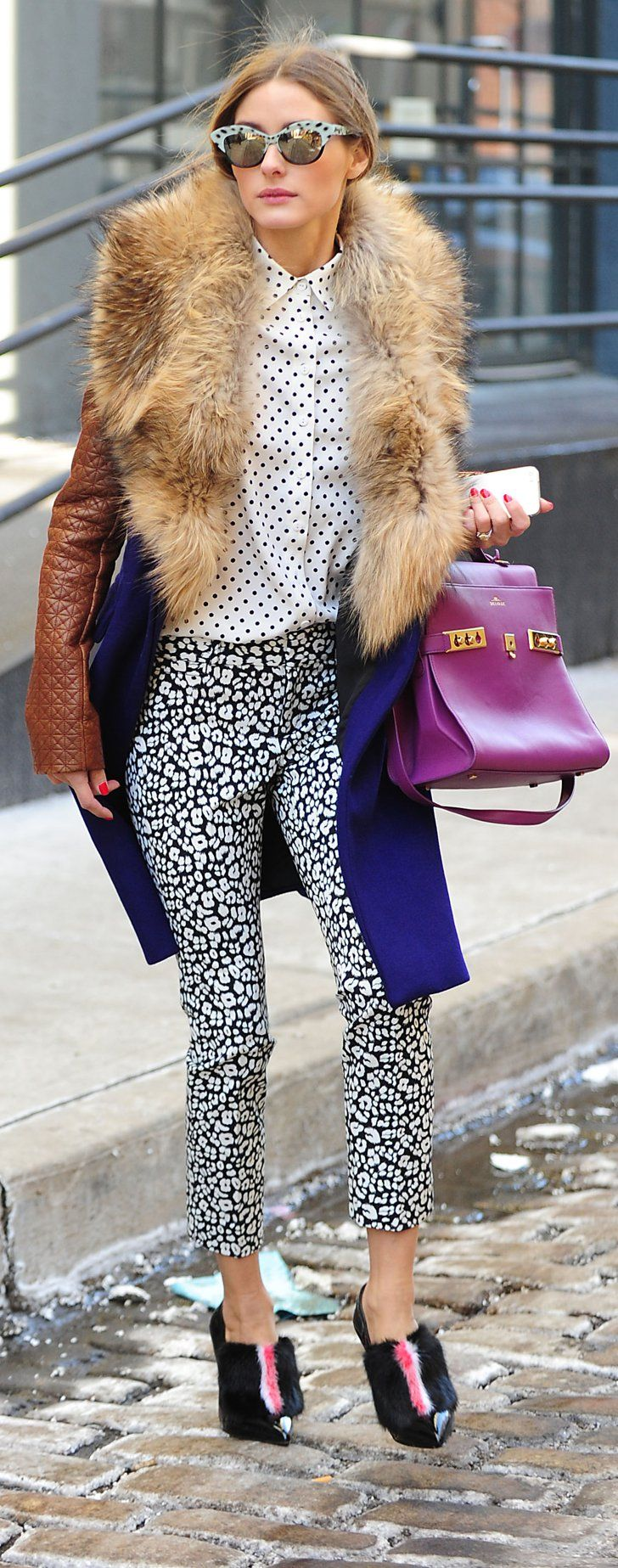 Pin for Later: 54 Times Olivia Palermo Made Us Hate Our Outfits  Olivia is the master of mixing high and low fashion. These pants are actually from Banana Republic.