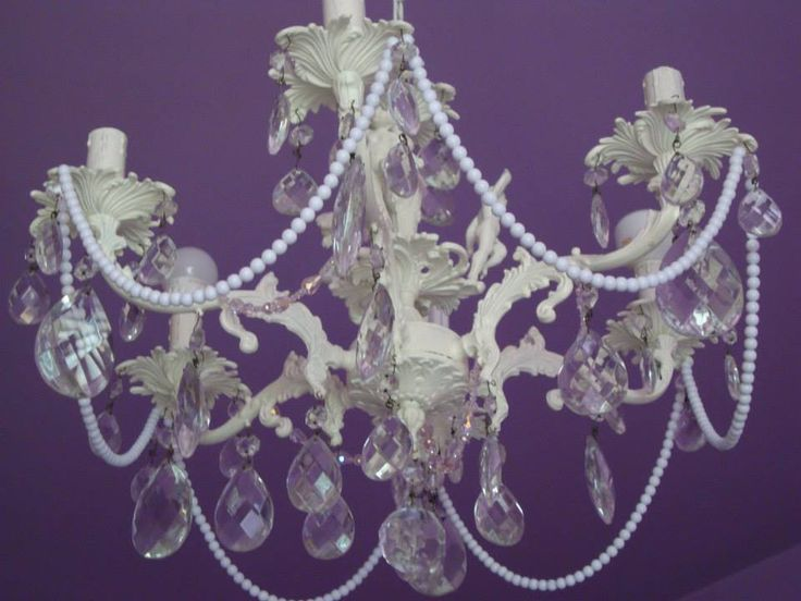 prima versione lampadario della nonna con perline