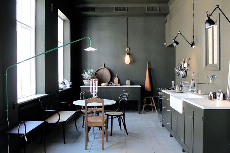 Dark Green Walls Studio