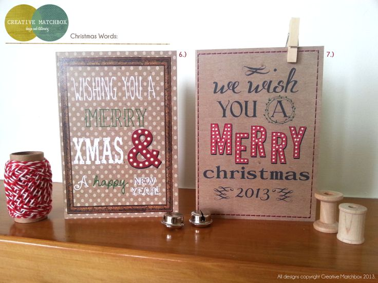 Creative Matchbox Debut Christmas Cards!!!