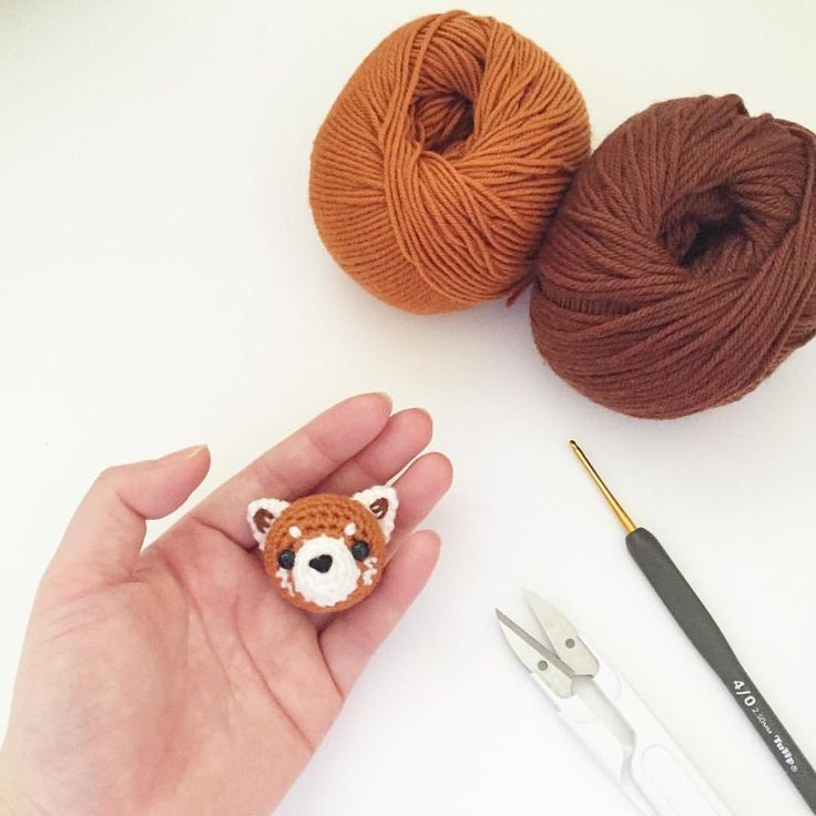Crochet lesser(red) panda doll amigurumi by isodreams
