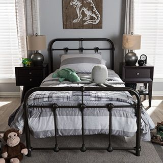 Shop for Vintage Industrial Metal Platform Bed by Baxton Studio. Get free shipping at Overstock.com - Your Online Furniture Outlet Store! Get 5% in rewards with Club O! - 17443572