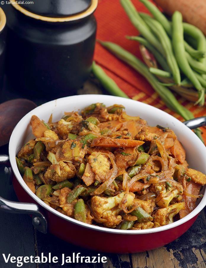 Vegetable Jalfrazie, Veg Punjabi Restaurant Style Jalfrazie