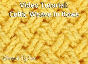 Tutorial: How to Crochet the Diagonal Celtic Weave in Rows