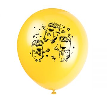 Despicable Me Minions Balloons 12in 8ct | Wally's Party Factory #despicableme #minions #balloons
