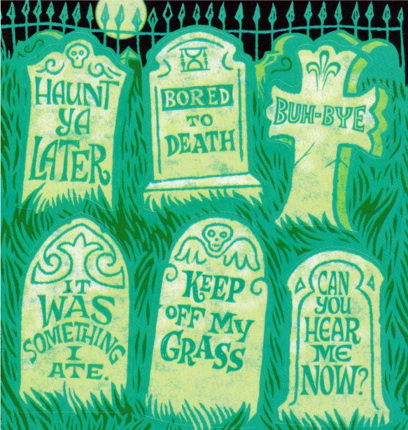 funny halloween epitaphs names