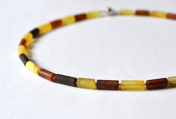 Amber Mens Necklace Men's Jewelry For Men Dude Necklace by KARUBA