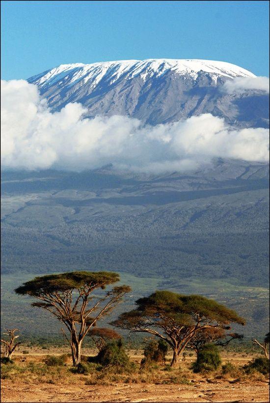 Mount: Kilimanjaro (Shira 3962 m, Mawenzi 5149 m and Uhuru 5891,8 m) Location: Kilimanjaro National Park, Tanzania.