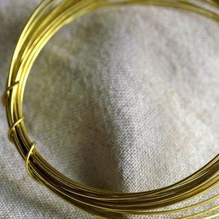 Soft Solid Brass Beading Wire 22ga mw2212ft by Goshen on Etsy, $2.80