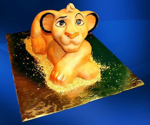The Lion King Simba Cake