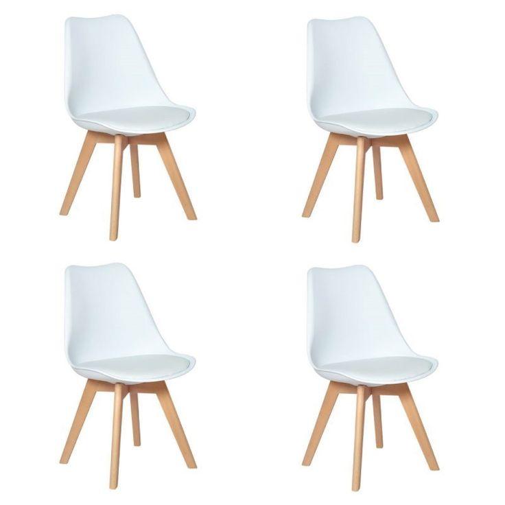 Conjunto 04 Cadeiras Eames Wood Leda Design – Branco – APZINHO