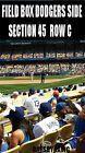 #Ticket  2 OF 4 LA Dodgers Tickets 7/6 Baltimore FIELD ROW C Kids Locker Nameplate E-SHIP #deals_us