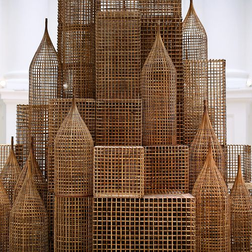 """thinkingimages: """"  Compound  Installation by Sopheap Pich for Singapore Biennale 2011. Cambodian artist Sopheap Pich's sculptures respond to and connect with his surroundings. After training in the..."""