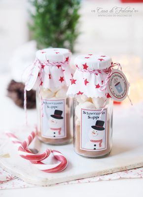 Snowman soup {recipe} & packaging