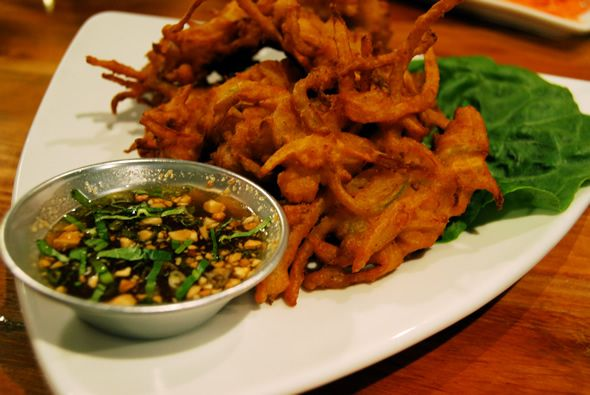 Khao San Road - amazing Thai food.  I would love to go back just for these fritters!