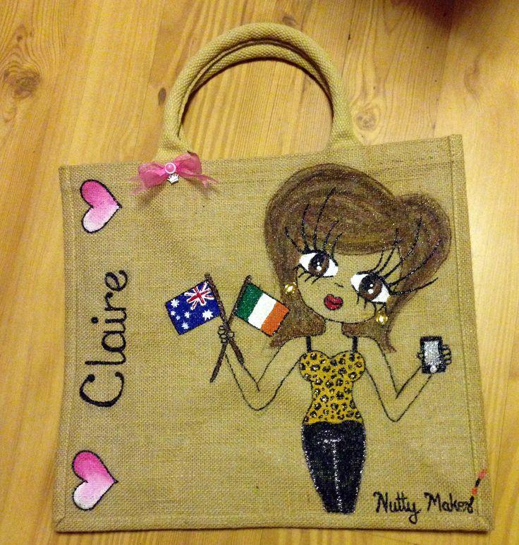 Claire. a bag for #emigration. #Irish #ireland #aussie #australia #flag #oz #nuttymakes