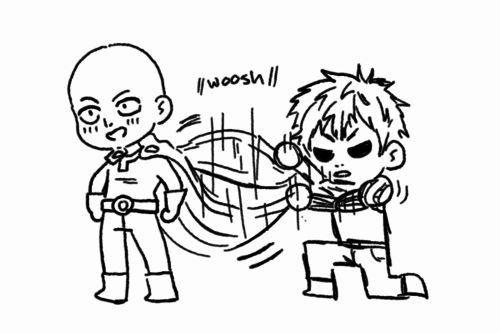 Woosh | Saitama and Genos | One Punch Man