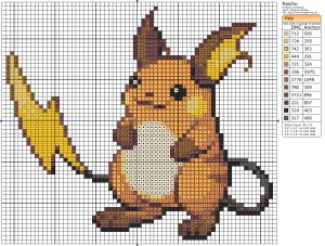Pokémon – Raichu Birdie's Patterns, Gaming, Pokémon, Raichu 0 Comments Jul…