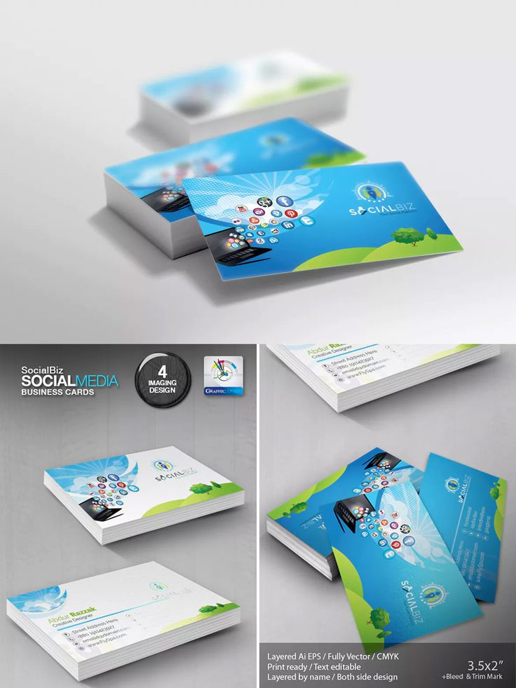 The 137 best business card template images on pinterest business social media business card template eps fbccfo Image collections