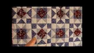 sawtooth quilt block - YouTube