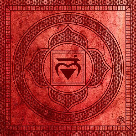 Chakra Art Print: Root Chakra Muladhara Sacred by KelbyPruchnick