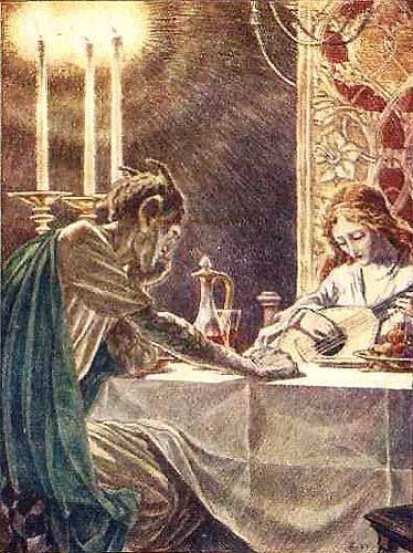 Paul Woodroffe illustration (1905) —so mysterious! Love the candlestick!