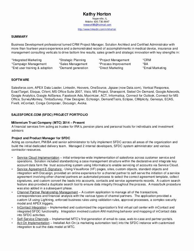 Salesforce Administrator Resume Examples Awesome Salesforce Administrator Certified Resume Indep In 2020 Resume Examples Sales Resume Examples Salesforce Administrator