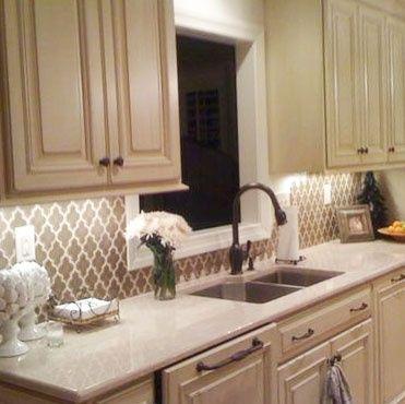 25 best ideas about kitchen wallpaper on pinterest for Vinyl wallpaper backsplash