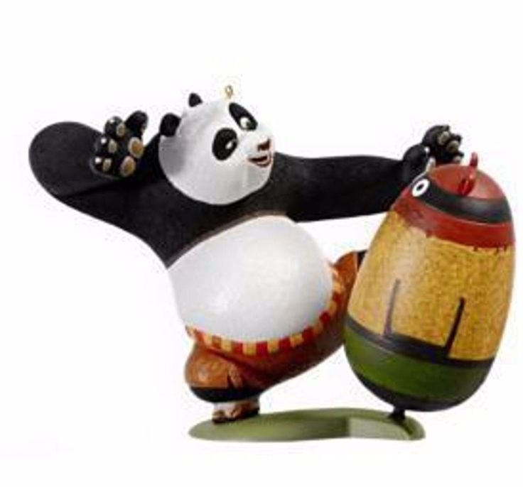 "KUNG FU PANDA - PO "" AN UNLIKELY HERO"" 2009 HALLMARK KEEPSAKE ORNAMENT NIB"