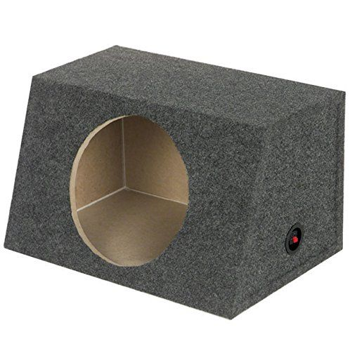 "Q Power Single 15-Inch Unloaded Box:   The q-power 15"" heavy duty single subwoofer enclosure features solid 5/8"" mdf wood construction and comes with a sealed chamber design. It boasts 2.4 cubic feet of air space and has an angled front. If you want the most output for your money, this is the way to go. The q-power 15"" subwoofer enclosure box also features a charcoal carpet covering and terminal cup connectors. Turn your ride into a sound machine with the help of the q-power 15"" subwoo..."