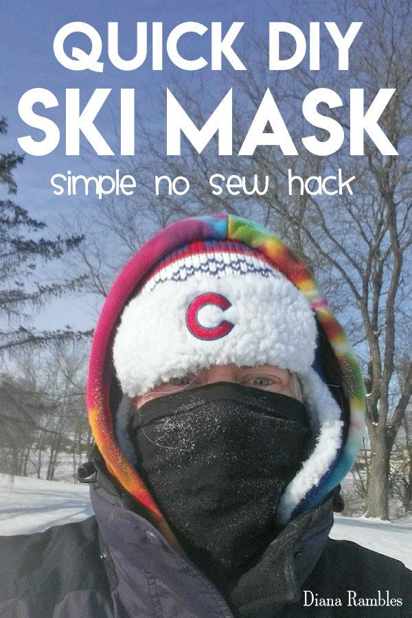 Instant Diy Ski Mask Tutorial No Skills Needed Make Your Own