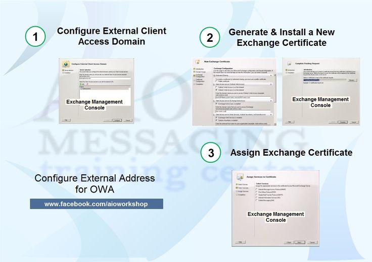 configure external address for owa