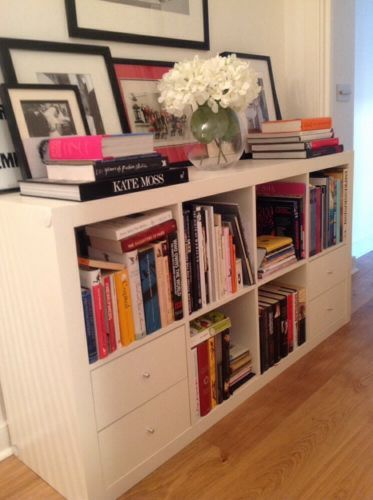 Expedit Shelving Unit White With Expedit Insert Drawers Ikea