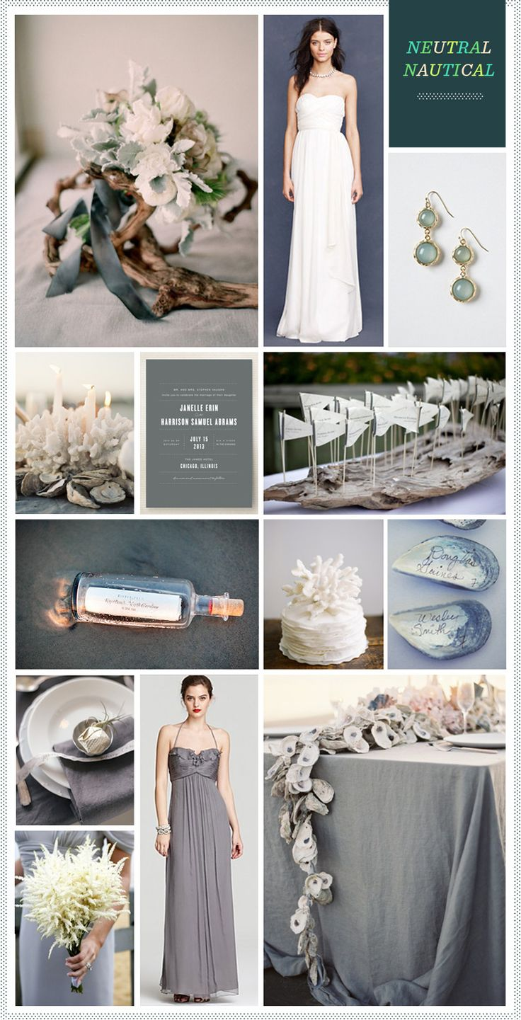 Neutral Nautical Wedding Inspiration