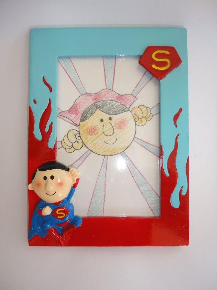 Superhero Superman Photo Frame 19.5x14.3cm - Great Gift or Children s Room Decor