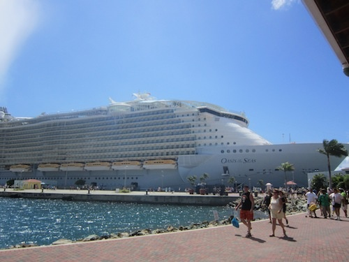 This is the Oasis of the Seas, one of Royal Caribbean's newest and largest ships