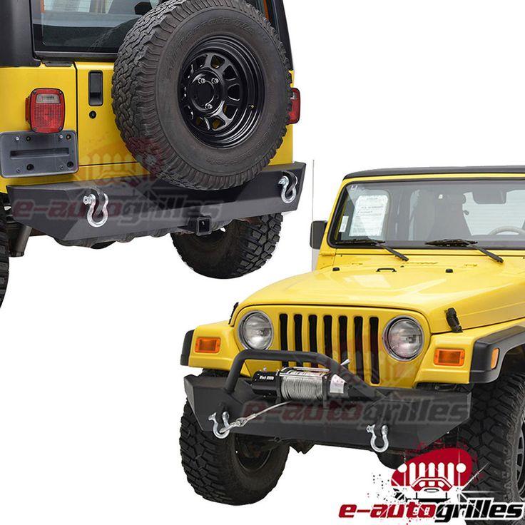 Rock Crawler Front Bumper+Rear Bumper for 87-06 Jeep TJ YJ Wrangler in eBay Motors, Parts & Accessories, Car & Truck Parts | eBay