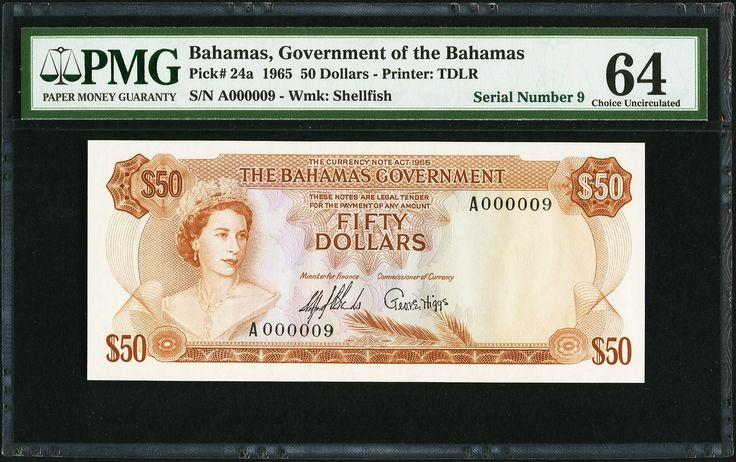 Bahamas Government $50 1965 - 1
