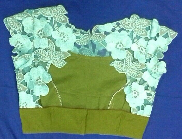 Crepe blouse with cutwork design 91 9866583602 whatsapp no 7702919644